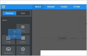Drag and Drop editor Weebly